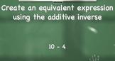 Additive Inverse Practice
