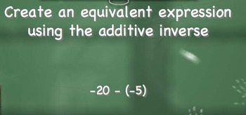 Additive Inverse Practice