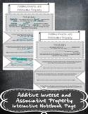 Additive Inverse and Associative Property INB TEKS 7.3B