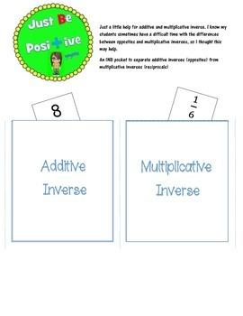 Additive and Multiplicative Inverse