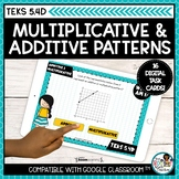 Additive and Multiplicative Numerical Patterns | Boom Card
