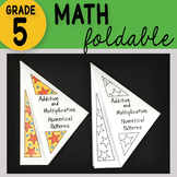 Additive and Multiplicative Numerical Patterns Math Foldable