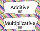 Additive and Multiplicative Relationship Sort