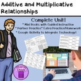Additive and Multiplicative Relationships: Complete Unit TEKS 6.6A 6.6B 6.6C