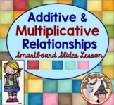 Additive and Multiplicative Relationships Smartboard + Tables Graphs Equations