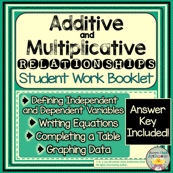 Additive and Multiplicative Relationships Student Booklet