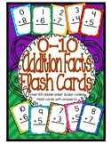 Addition Facts 0-10 Flash Cards {double sided to include answers & color coded}