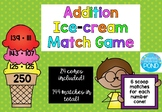 Additon Ice-cream Match Game 3 digit  {24 cones with 6 matches for each}