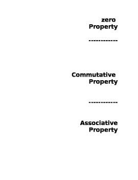 Additon Properties Flip Chart