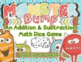 Addition and Subtraction BUMP Math Game (Monster Theme) Di
