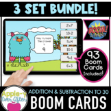 Additon & Subtraction to 30 - Digital Task Cards for Boom Cards™