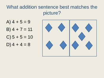 Additon and Subtraction 1st Grade Quizdom Review PowerPoint