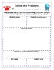 Additon and Subtraction Word Problem Organizer