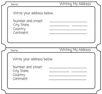 Address Exit Ticket