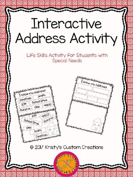 Home Address Interactive Activity- Editable!