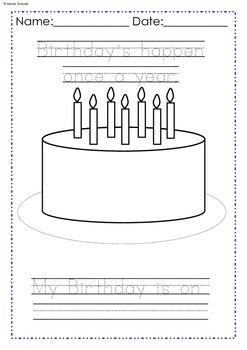 Address, Phone Number and Birthday Teaching FREE