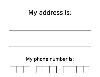 Address and Phone Number