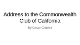 Address to the Commonwealth Club of California