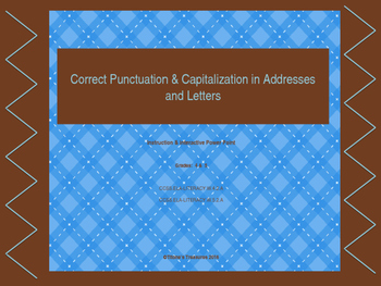 Addresses and Letters- capitalization and punctuation