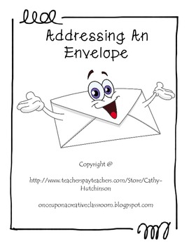 addressing an envelope activity packet by once upon a creative classroom