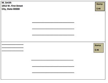 Addressing an Envelope Graphic Organizer