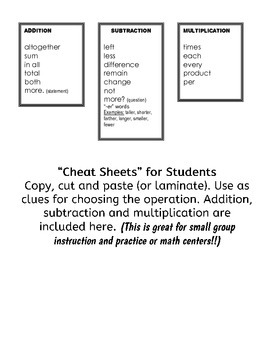 Addtion and Subtraction Word Problems