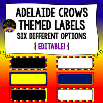 Adelaide Crows Themed Labels {Editable!}