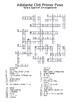 Adelante Unit 6 Crossword Puzzles