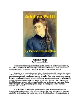 Adelina Patti - Opera Star