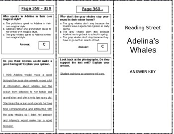 Adelina's Whales - 4th Grade Reading Street