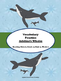 Adelina's Whales Vocabulary Practice Pages