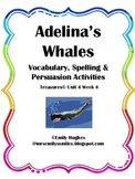 Adelina's Whales Vocabulary, Spelling & Sequencing Activities