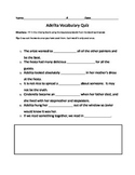 Adelita Vocabulary Quiz