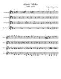 Adeste Fideles for Clarinet choir