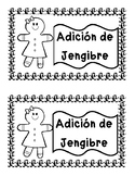SPANISH & ENGLISH Gingerbread Addition Flip Book