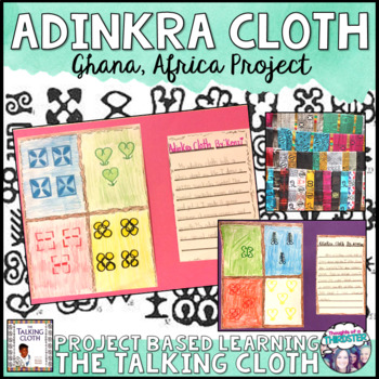 """Adinkra Cloth Project For  """"The Talking Cloth"""""""