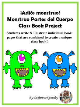 Adios Monstruo - Los partes del cuerpo class book project