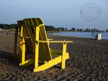 Adirondack Chair at the Beach -  Stock Photo for Personal and Commercial Use