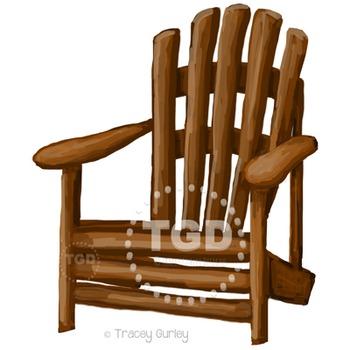 Adirondack Chair clip art, adirondack chair Printable Tracey Gurley Designs