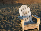 Adirondack Chair in the Sand - for Personal and Commercial Use