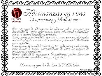 Adivina Adivinador - Poemas Adivinanza - Inferencing Poems in Spanish K-3