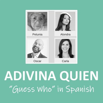 Adivina Quien (Guess Who) for Intro to Spanish