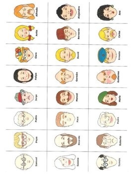 Adivina Quien - Guess Who for Spanish Class