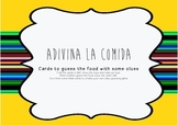 Adivina la comida. Fun Spanish Guessing game about Food