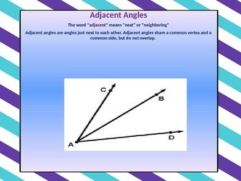 Adjacent Angles PowerPoint