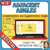 Adjacent Angles Distance Learning Activity Self-Checking O