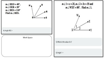 Adjacent Angles (PowerPoint Lesson with Printables!)
