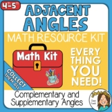 Adjacent Angles and Unknown Measures   Angles Math Kit Set 4