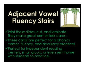 Adjacent Vowel Fluency Stairs