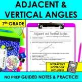 Adjacent and Vertical Angles Notes